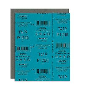 Folha de Lixa D'Água Microfina T419 Grão 1200 230 x 280 mm Pacote com 200