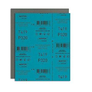 Pacote com 200 Folha de Lixa D'Água Microfina T419 Grão 320 230 x 280 mm