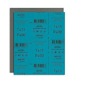 Pacote com 200 Folha de Lixa D'Água Microfina T419 Grão 400 230 x 280 mm