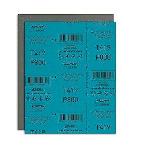 Pacote com 200 Folha de Lixa D'Água Microfina T419 Grão 800 230 x 280 mm
