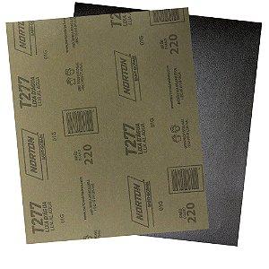 Pacote com 200 Folha de Lixa D'Água NorClass T277 Grão 220 230 x 280 mm