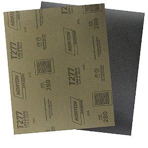 Pacote com 200 Folha de Lixa D'Água NorClass T277 Grão 280 230 x 280 mm