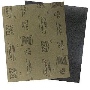 Pacote com 200 Folha de Lixa D'Água NorClass T277 Grão 320 230 x 280 mm