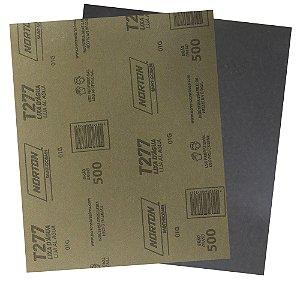 Pacote com 200 Folha de Lixa D'Água NorClass T277 Grão 500 230 x 280 mm
