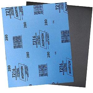 Pacote com 200 Folha de Lixa D'Água Norflex T216 Grão 280 230 x 280 mm