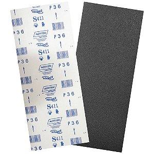 Pacote com 40 Folha de Lixa Durite Assoalho S411 Grão 36 305 x 750 mm