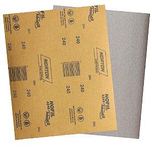 Pacote com 500 Folha de Lixa Laca e Verniz A219 Nofil Grão 240 225 x 275 mm