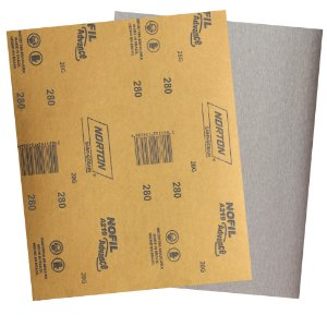 Pacote com 500 Folha de Lixa Madeira Laca e Verniz A219 Nofil Grão 280 225 x 275 mm