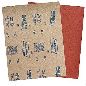 Pacote com 500 Folha de Lixa Massa Advance A257 Grão 180 225 x 275 mm
