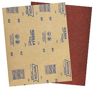 Folha de Lixa Massa Advance A257 Grão 60 225 x 275 mm Pacote com 500