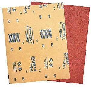 Folha de Lixa Massa Advance A257 Grão 80 225 x 275 mm Pacote com 500