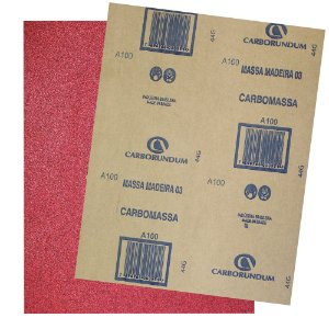 Pacote com 500 Folha de Lixa Massa e Madeira CAR03 Grão 100 225 x 275 mm