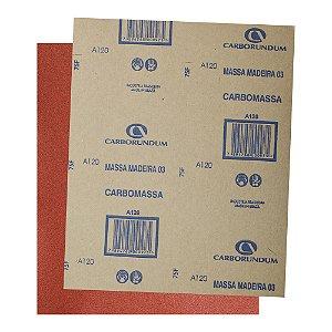 Folha de Lixa Massa e Madeira CAR03 Grão 120 225 x 275 mm Pacote com 500