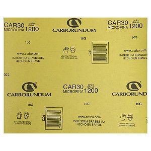 Pacote com 200 Folha de Lixa Microfina CAR30 Grão 1200 230 x 280 mm