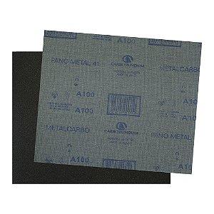 Folha de Lixa Pano Metal CAR41 Grão 100 225 x 275 mm Pacote com 200