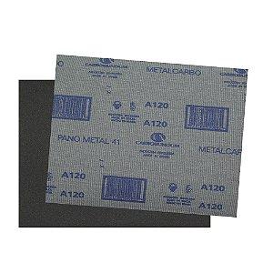 Folha de Lixa Pano Metal CAR41 Grão 120 225 x 275 mm Pacote com 200