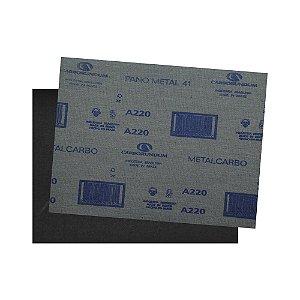 Folha de Lixa Pano Metal CAR41 Grão 220 225 x 275 mm Pacote com 200