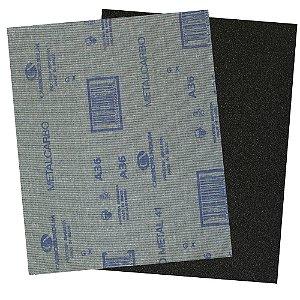 Pacote com 200 Folha de Lixa Pano Metal CAR41 Grão 36 225 x 275 mm