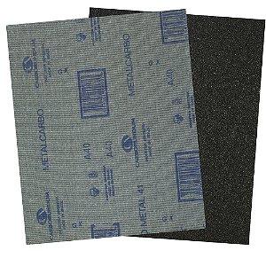 Folha de Lixa Pano Metal CAR41 Grão 40 225 x 275 mm Pacote com 200