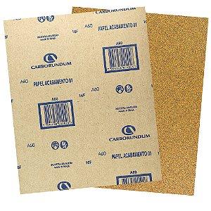 Pacote com 500 Folha de Lixa Papel Acabamento CAR01 Grão 60 225 x 275 mm