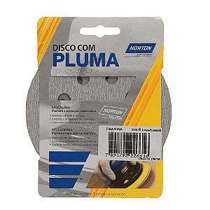 Kit Disco de Lixa Pluma A219 com 8 Furos Grão 220 5 Pçs 127 mm Caixa com 20