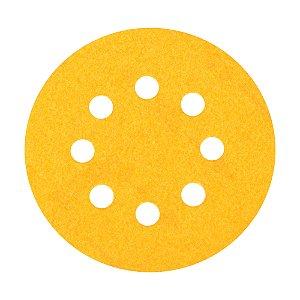 Kit Disco de Lixa Pluma G125 Adalox Papel Grão 80 127 mm Caixa com 20