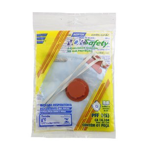 Caixa com 5 Máscara Descartável Norsafety Pro PFF1 C/Válvula