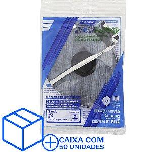 Caixa com 50 Máscara Descartável Norsafety Pro PFF2 Carvão Ativo C/Válvula