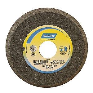 Caixa com 5 Rebolo Afiação de Serras Óxido de Alumínio Cinza Chanfrado 152,40 x 9,50 x 31,75 mm A80OVC1