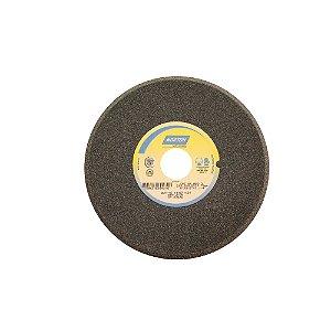 Caixa com 5 Rebolo Afiação de Serras Óxido de Alumínio Cinza Chanfrado 203,20 x 9,50 x 31,75 mm A80OVC1