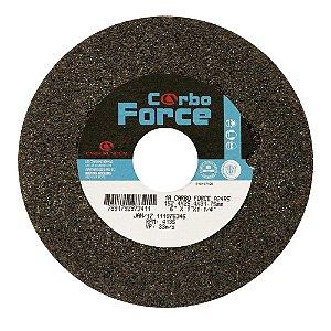 Caixa com 10 Rebolo Carbo Force Afiação e Rebarbação Aços e Materiais Ferrosos Reto 152,4 x 25,4 x 31,75 mm A24R5V50W