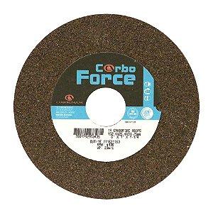 Caixa com 10 Rebolo Carbo Force Afiação e Rebarbação Aços e Materiais Ferrosos Reto 152,4 x 25,4 x 31,75 mm A60P5V50W