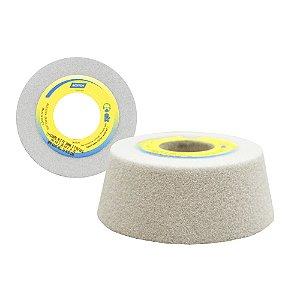 Rebolo Afiação e Retíficação Óxido de Alumínio Branco Copo Cônico 101,6 x 38,1 x 31,75 mm ACC FE 38A46K Caixa com 4