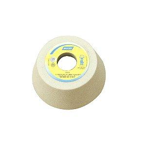Caixa com 4 Rebolo Afiação e Retíficação Óxido de Alumínio Branco Copo Cônico 127 x 45,0 x 31,75 mm ACC FE 38A60K