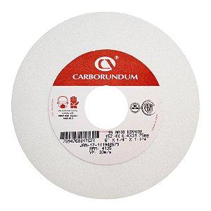 Caixa com 20 Rebolo Ferramentaria Óxido de Alumínio Branco Reto 152,4 x 6,4 x 31,75 mm 1A AA80 K8V40W