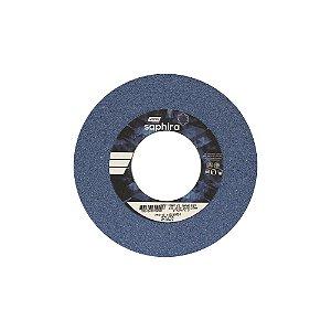 Caixa com 3 Rebolo Saphira Ferramentaria Premium Óxido de Alumínio Cerâmico Reto 203,20 x 19 x 76,20 mm 38A46JVS3