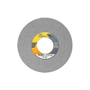 Caixa com 1 Rebolo Saphira Ferramentaria Premium Óxido de Alumínio Cerâmico Reto 254 x 19,1 x 76,2 mm 5NQ46-JVS3