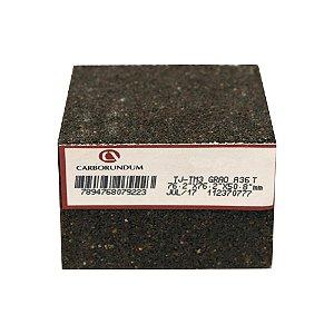 Caixa com 12 Rebolo Tijolo Manual Óxido de Alumínio Marmoraristas e Graniteiros 76,2 x 76,2 x 50,80 mm TJ PE-80 Grão 36