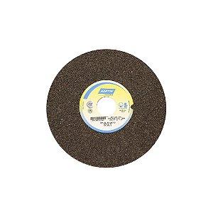 Rebolo Uso Geral Desbaste de Metal Óxido de Alumínio Marrom Reto 203,20 x 25,40 x 31,75 mm A24RVS Caixa com 3