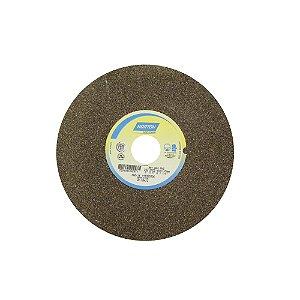 Rebolo Uso Geral Desbaste de Metal Óxido de Alumínio Marrom Reto 203,20 x 25,40 x 31,75 mm A60NVS Caixa com 3