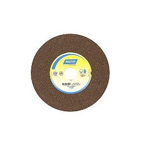 Rebolo Uso Geral Desbaste de Metal Óxido de Alumínio Marrom Reto 254 x 25,40 x 38,10 mm A60NVS Caixa com 1