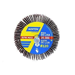 Roda de Lixa Flap PG Mini Kontour MK com Haste R319 Grão 120 50 x 25 mm Caixa com 24