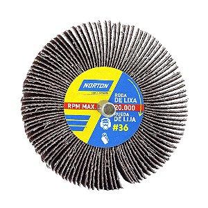 Caixa com 12 Roda de Lixa Flap PG Mini Kontour MK com Haste R319 Grão 36 75 x 25 mm