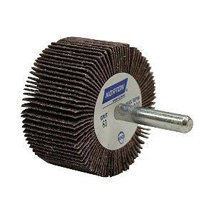 Caixa com 10 Roda de Lixa Flap PG Mini Kontour MK com Haste R369 Grão 60 50 x 25 mm