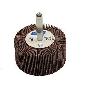 Caixa com 10 Roda de Lixa Flap PG Mini Kontour MK com Haste R369 Grão 80 50 x 25 mm