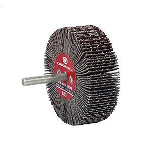 Roda de Lixa Flap PG Mini Kontour MK com Haste CARBO Grão 120 75 x 25 mm Caixa com 12