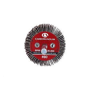 Caixa com 24 Roda de Lixa Flap PG Mini Kontour MK com Haste CARBO Grão 80 50 x 25 mm