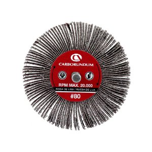 Caixa com 12 Roda de Lixa Flap PG Mini Kontour MK com Haste CARBO Grão 80 75 x 25 mm