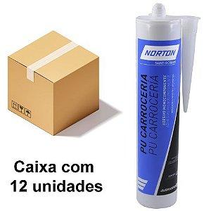 Caixa com 12 Selante Automotivo PU Carroceria Cinza 400 g