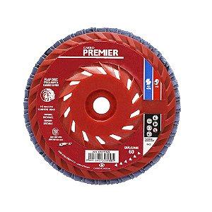 Disco Flap Troca Rápida Grão 60 115 x 22 mm Caixa com 10